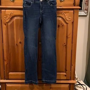 INC Bootcut lightly distressed jeans